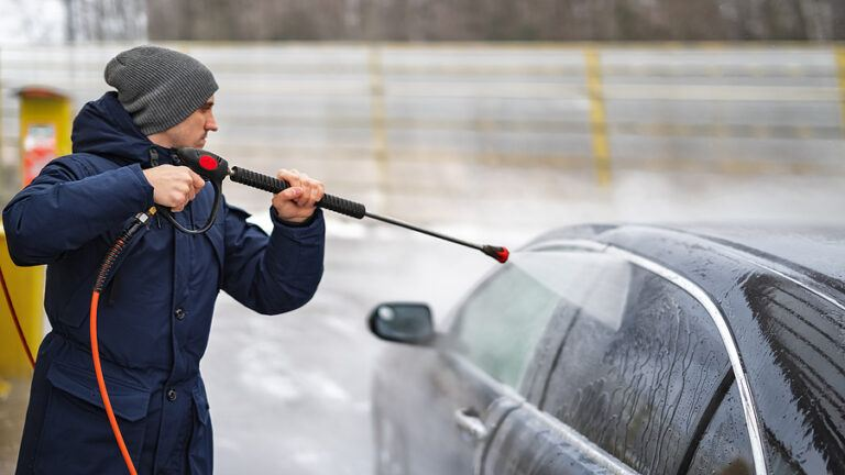 Pressure washing in cold weather